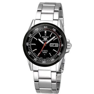 SEIKO 復古5號機械腕錶(IP黑框)