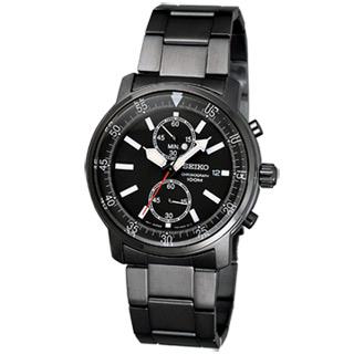 SEIKO 炫風運動腕錶(黑)