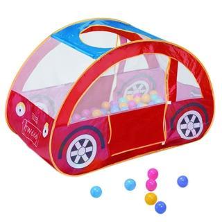 【寶貝樂】汽車帳篷折疊遊戲球屋(送100球)