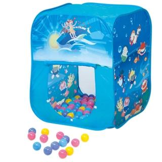 【寶貝樂】方形帳篷折疊遊戲球屋(送200球)