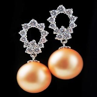 【蕾帝兒珠寶】-戀愛深海貝珠耳環