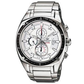 CASIO EDIFICE 勁速時計運動賽車錶(白)