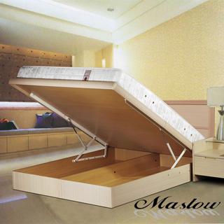 (Maslow-現代白橡)加大掀床組-6尺(不含床墊)