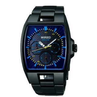 WIRED HYBRID SOLAR潮流腕錶(V14J-X004K)-藍/IP黑
