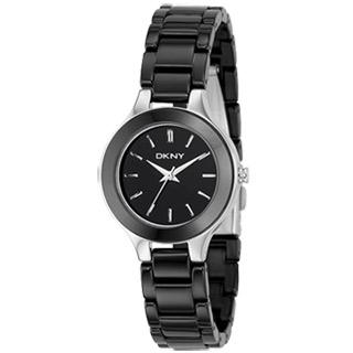 【DKNY】陶瓷腕錶(黑)