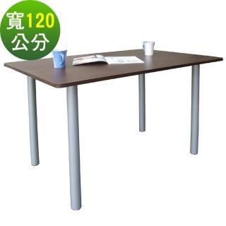 【美佳居】桌面(80公分x120公分)會議桌/工作桌/書桌/電腦桌(深胡桃木色)