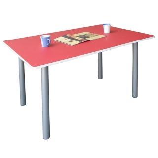 【美佳居】桌面(80公分x120公分)會議桌/工作桌/書桌/電腦桌(紅白色)
