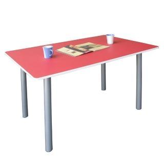 【美佳居】桌面(60公分x120公分)會議桌/工作桌/書桌/電腦桌(紅白色)