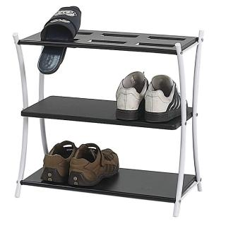 【美佳居】實用型三層開放式鞋架/置物架