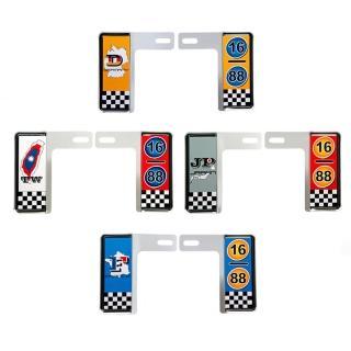 【3D】6碼專利精緻裝飾車牌框(地圖國別款)