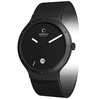 OBAKU 追求完美時尚腕錶(全黑/小)