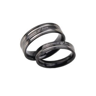 【E&I】-愛的宣言-316L白鋼時尚造型情侶對戒