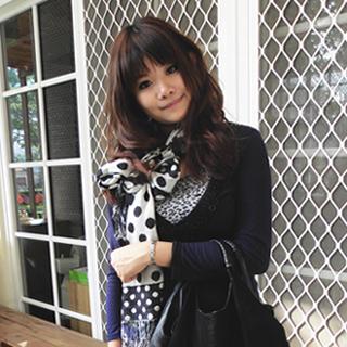 【Lus.G】日系點點棉麻龐克圍巾共3色