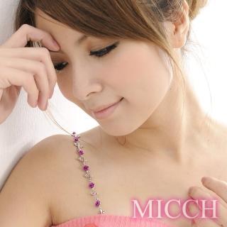 【MICCH】台灣製 凡爾賽玫瑰閃耀捷克鑽石肩帶