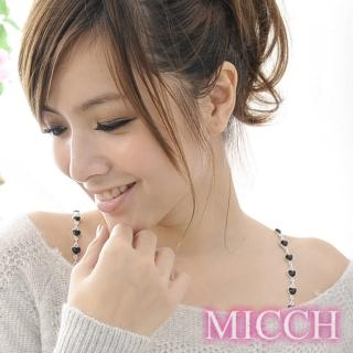 【MICCH】台灣製 典雅黑愛心寶石肩帶