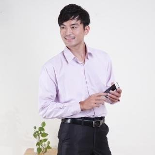 【JIA HUEI】長袖柔挺領男仕吸濕排汗襯衫 粉紅色(台灣製造)