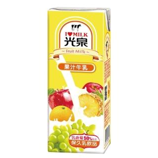 《光泉》果汁保久乳200ml*24瓶