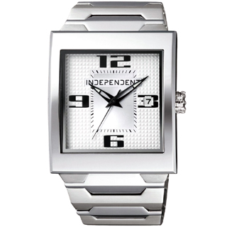 【INDEPENDENT 】極簡時代都會時尚錶(銀白 ITB21-5203)