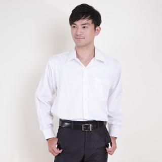 【JIA HUEI】長袖男仕吸濕排汗防皺襯衫 白色(台灣製造)
