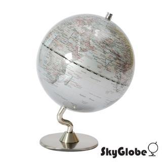 【SkyGlobe】5吋銀色時尚地球儀(英文版)
