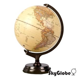 【SkyGlobe】12吋仿古金屬底座立體觸控式地球儀