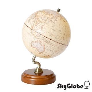 【SkyGlobe】10吋仿古木質底座立體地球儀