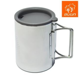 【步林BULIN】環保攜帶式不鏽鋼杯/露營杯/野營杯(大)
