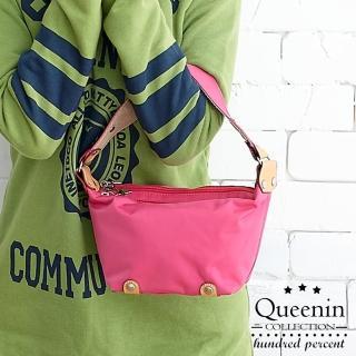 【DF Queenin】時尚休閒少女輕盈袖珍肩背包(共3色)