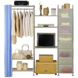 【巴塞隆納】W3型60+60+D電視衣櫥置物櫃