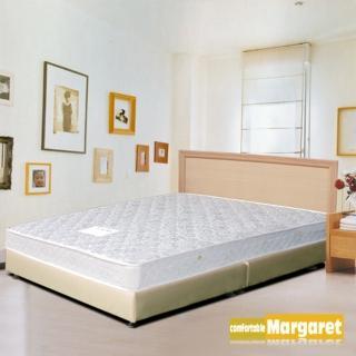 (Margaret)極簡風格獨立筒(白橡)床組-雙人
