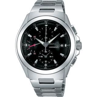 WIRED 急凍人風暴計時腕錶(7T92-X221D)-黑/銀