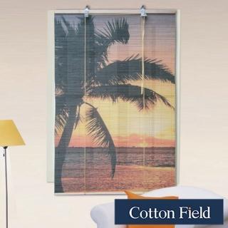 棉花田(南洋)彩色天然竹捲簾(90x160cm)