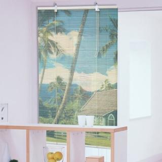 棉花田(鄉間)彩色天然竹捲簾(90x160cm)