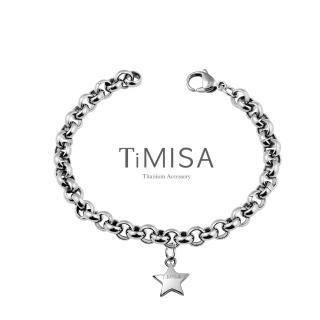 【TiMISA】幸運風之戀 純鈦手鍊(M)
