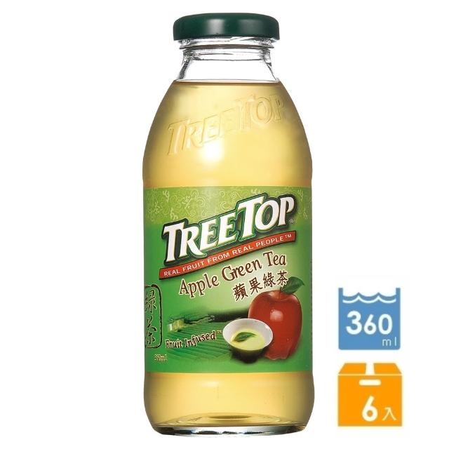 【Tree Top樹頂】蘋果綠茶360ml-6