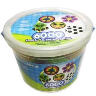 《Perler 拼拼豆豆》歡樂遊戲王 6000 顆拼豆組合桶