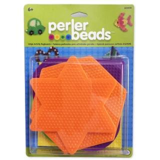 《Perler 拼拼豆豆》五入彩色大幾何模型板組合