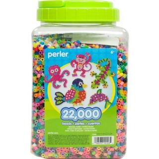 《Perler 拼拼豆豆》22000顆混色補充罐-00一般色系