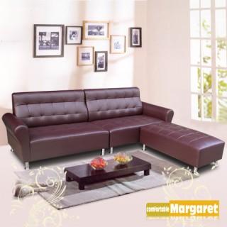 (Margaret)風情時代獨立筒L型沙發