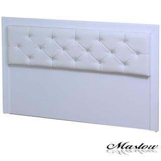 (Maslow-宮廷水鑽純白)雙人床頭片-5尺
