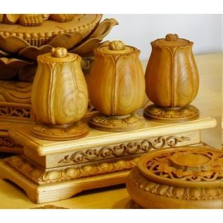 【荒木雕塑藝品】檜木手工雕刻供水杯(小)