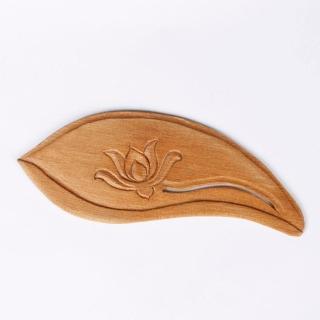 【荒木雕塑藝品】肖楠蓮片木書籤
