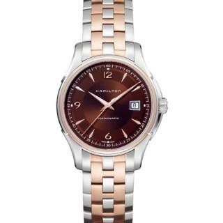 HAMILTON 耀眼大錶鏡機械腕錶/咖啡金面43mm(H32655195)