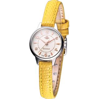 【Rosemont】骨董風玫瑰系列 時尚腕錶(RS001-05黃色)