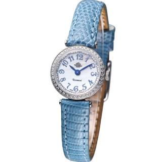 【Rosemont 玫瑰錶】茶香玫瑰系列 超薄 時尚錶(TRS010-03SV-LE-BU水藍色)