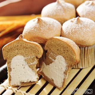 新巧屋 爆奶蛋糕-卡布奇諾+巧克力 共18入/2盒
