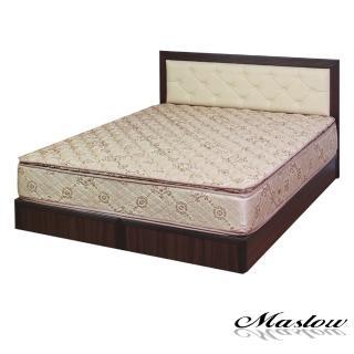 (Maslow-簡約胡桃釘釦)雙人床組-5尺(不含床墊)