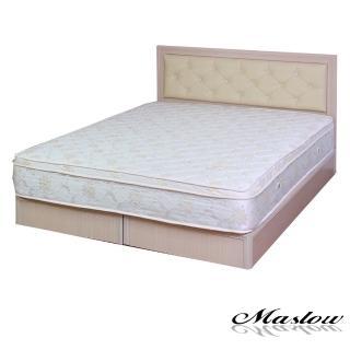 (Maslow-簡約白橡釘釦)雙人床組-5尺(不含床墊)