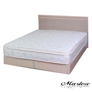 【Maslow-元氣白橡】雙人5尺二件式床組(不含床墊)