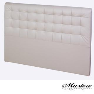 (Maslow-時尚格紋皮製)單人床頭-3.5尺(卡其)